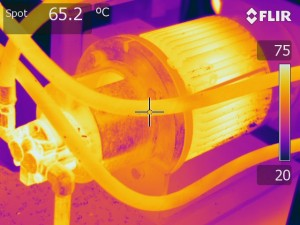 IR image of motor